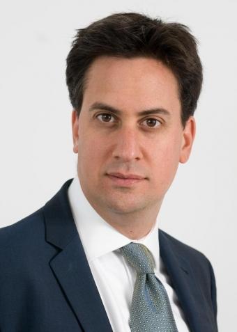 Ed Miliband föreläser på Kvalitetsmässan