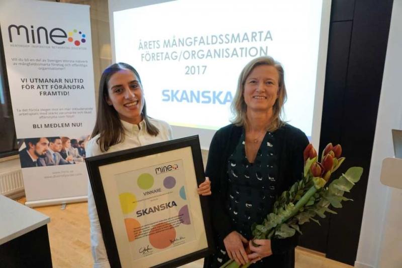 """Skanska """"Årets mångfaldssmarta företag"""