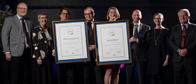 Internetstiftelsen och MTR tog emot utmärkelser