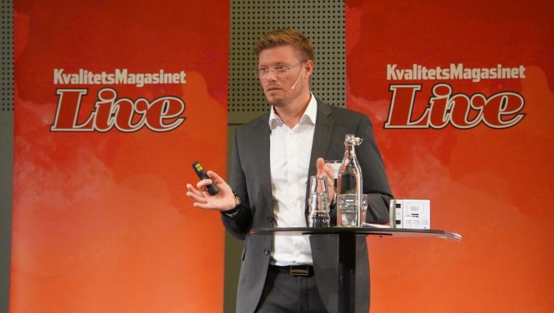 Ola Ljunggren Bergeå med publik.