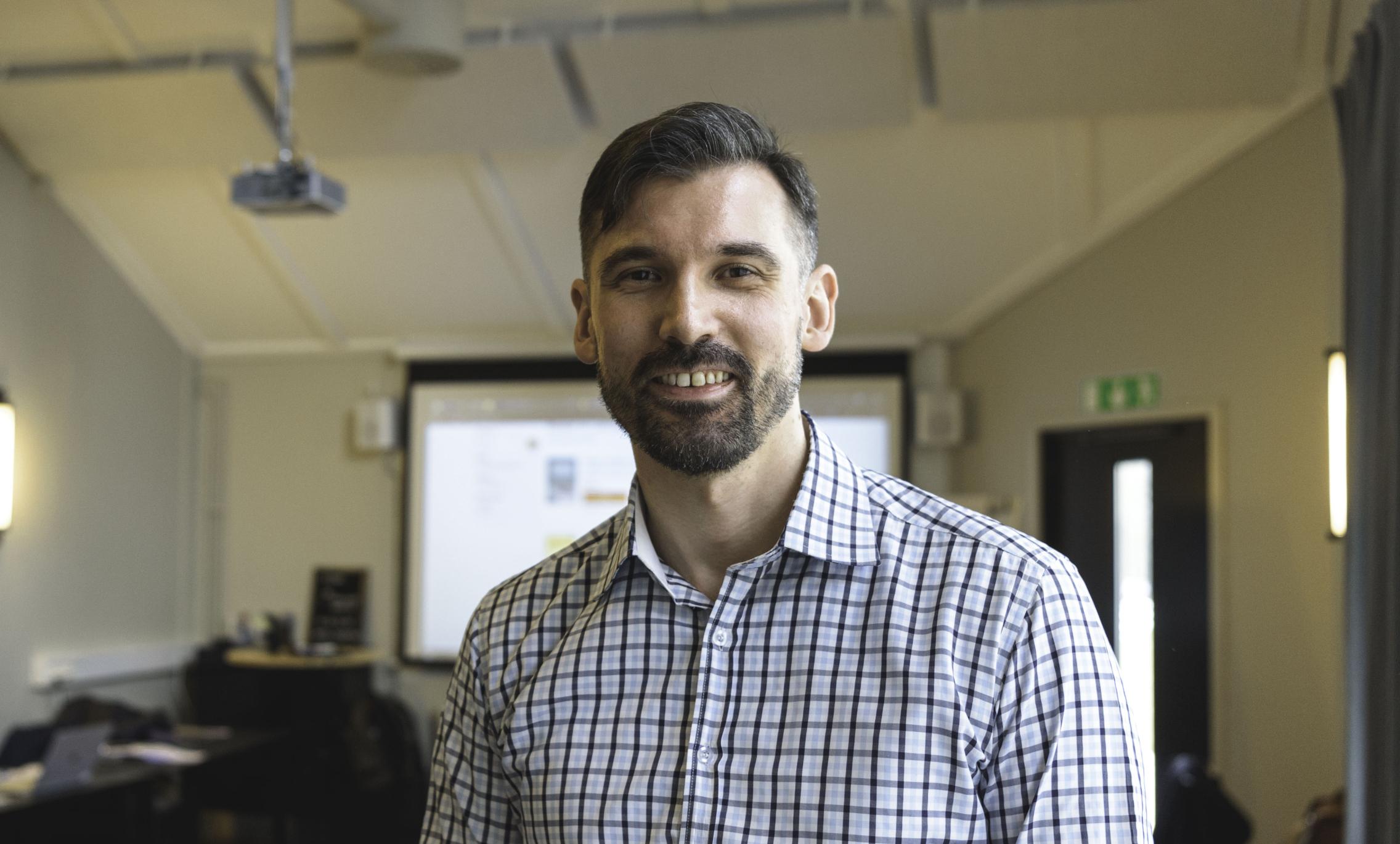 """Leif Denti, universitetslektor och innovationspsykolog vid Göteborgs universitet, myntade begreppet """"tookig"""" som akronym för den osäkerhet som många organisationer upplever.Foto Hampus Apelqvist."""
