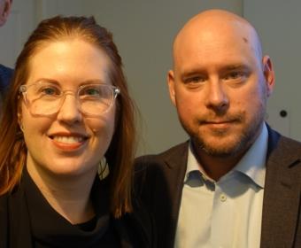 Laurina Qvarnström och Johan Parmler, SKI.
