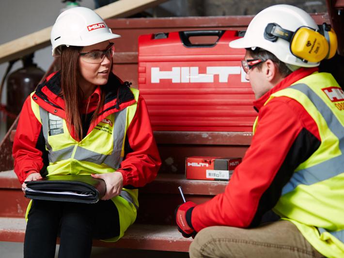 För Hilti är medarbetarnas engagemang en del av kvalitetsarbetet.