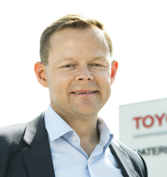 Magnus Andersson, kvalitetschef Toyota Material Handling i Mjölby