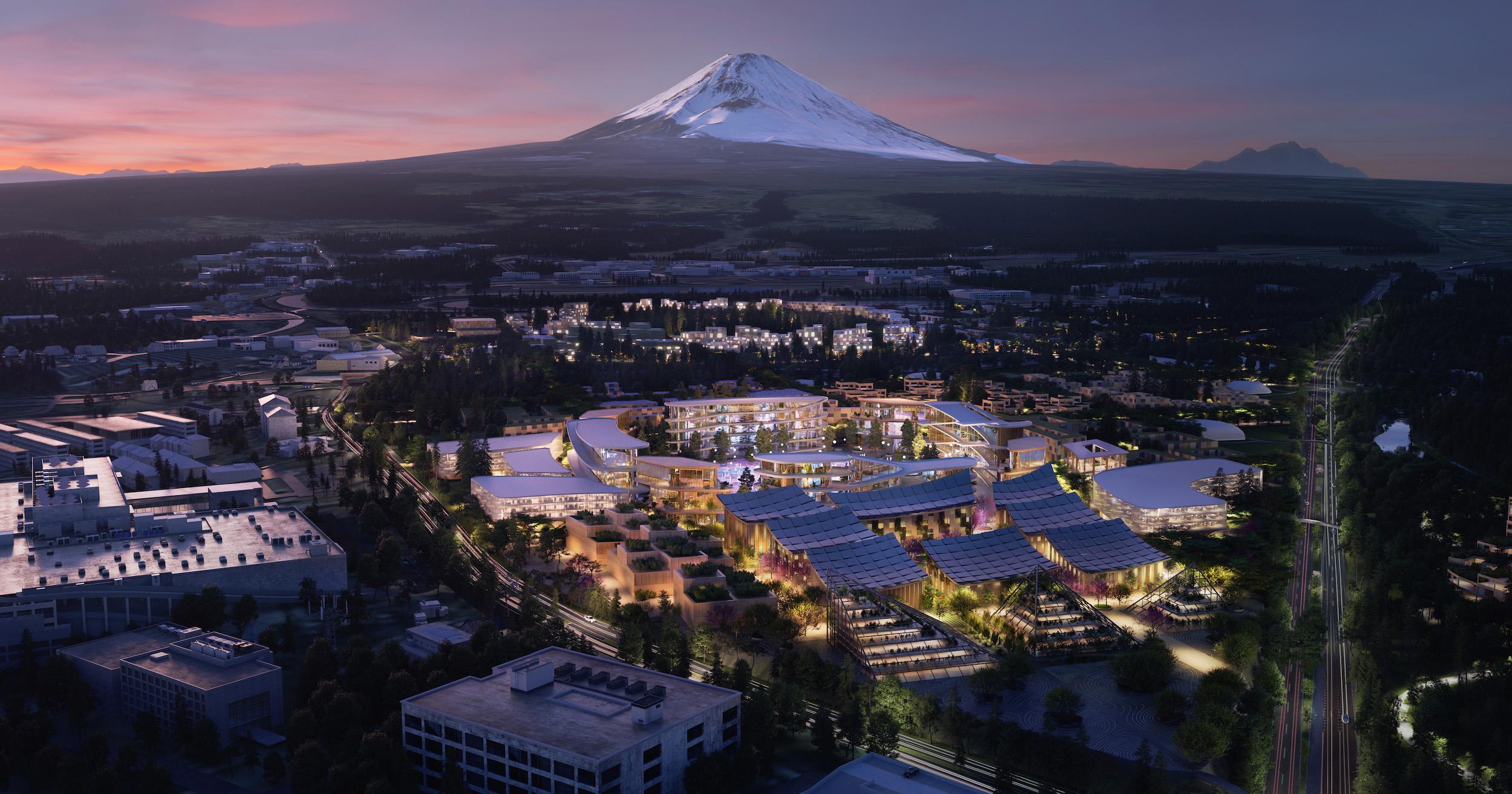 Staden ska ligga vid foten av berget Fuji. Foto Toyota.